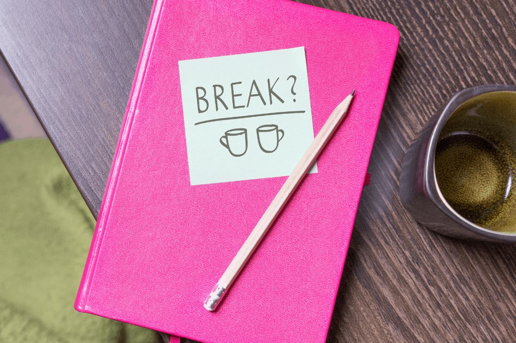 give yourself a break from being perfect